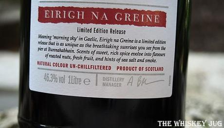 Eirigh Na Geine Details (price, mash bill, cask type, ABV, etc.)
