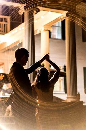 first dance wedding shots creative bride and groom in lights hinkley photo