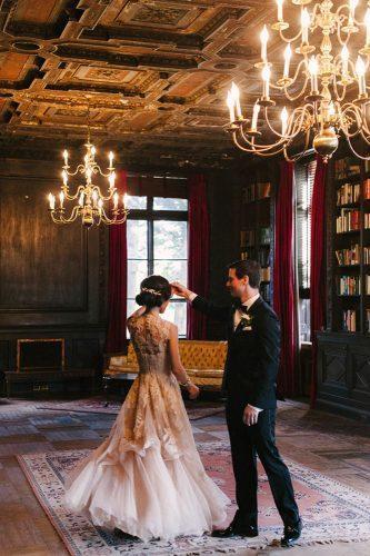 first dance wedding shots dance in library judypak