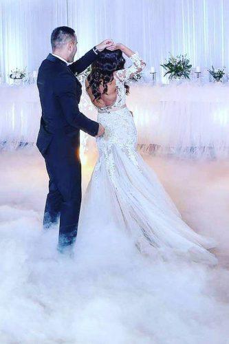 first dance wedding shots in smoke bride and groom jelena grozdic via instagram