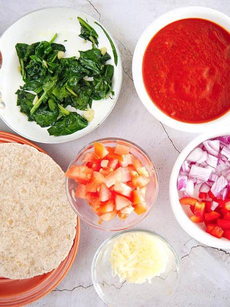 Easy Vegetarian Flatbread Pizza Recipe