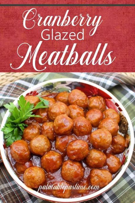 Cranberry Glazed Meatballs
