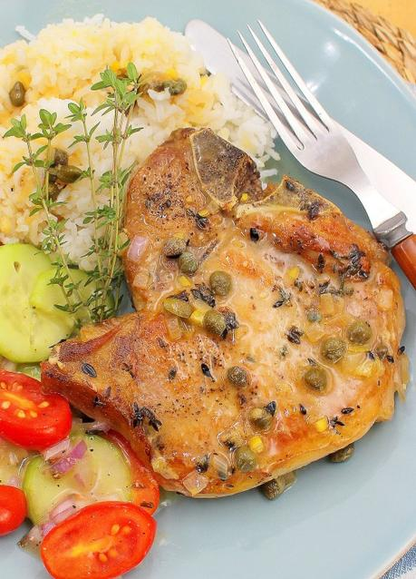Pork Chops with Rich Caper-Lemon Sauce and Review: Jubilee Cookbook