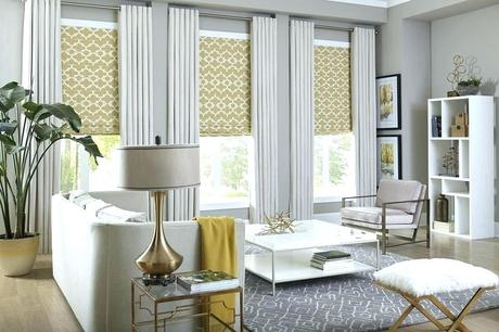 yellow window shades blinds treatments for living room