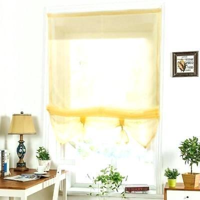 yellow window shades roller roman blinds curtain drape light filtering