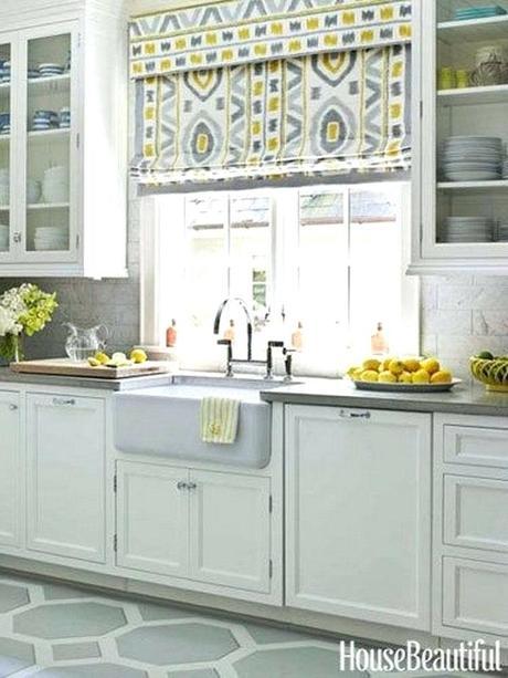 yellow window shades blinds creative kitchen treatment ideas