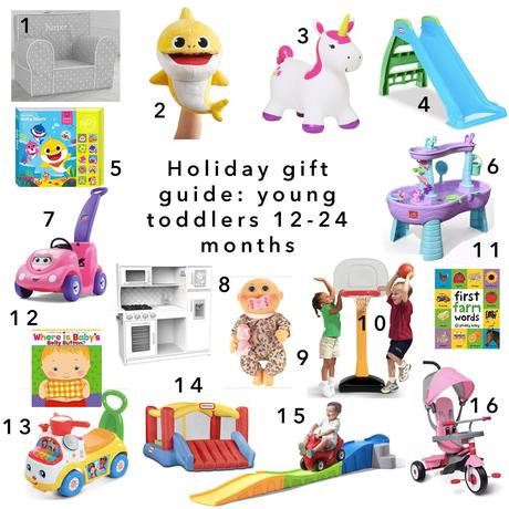 Holiday gift guide for young toddlers 12-24 months