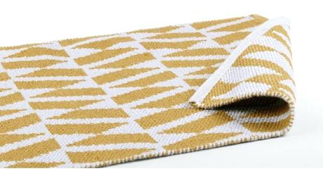 yellow floor runner carpet oblique x grey
