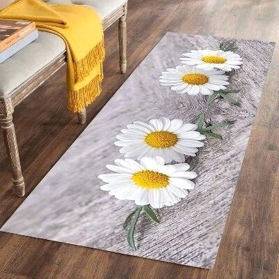 yellow floor runner brick road us 5 off else gray white daisy flowers print non slip microfiber washable long mats mat rugs hallway carpets in