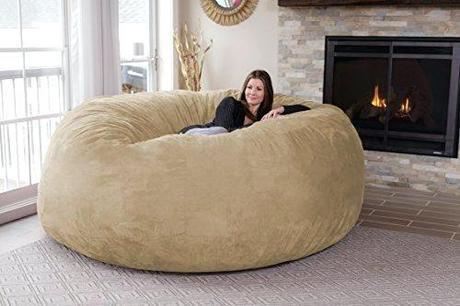 memory foam bag bean filler chill sack chair giant 8 furniture big sofa with soft micro fiber cover camel