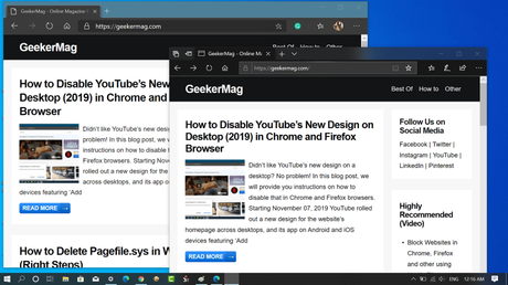 How to Enable Microsoft Edge (Chromium-based) and Microsoft Edge (Edge HTML) side-by-side