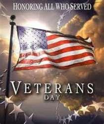 On this special Veterans Day.....  God Bless the brave men and women past and present who put their lives on the line for us.