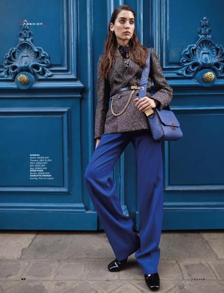 Parisian Chic for STYLE magazine with Polina Horsh by Benjamin Kanarek