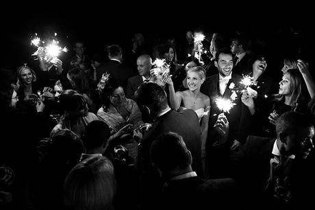 sparklers at a curradine barns wedding