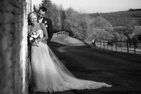 bride and groom enjoy the sunshine