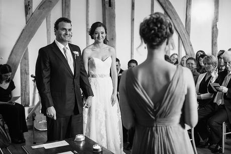 a guest reading during a bruisyard hall wedding