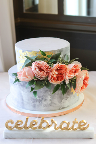 engagement party cakes stylish cake with floral decor