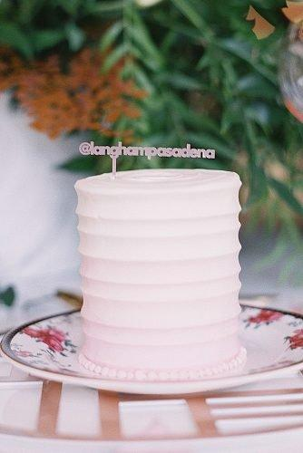 engagement party cakes minimalistic chic pink cake