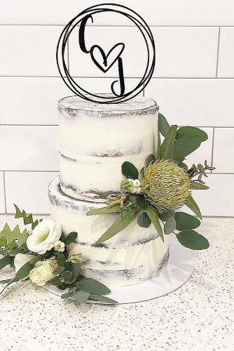 engagement party cakes rustic cake with froral decor