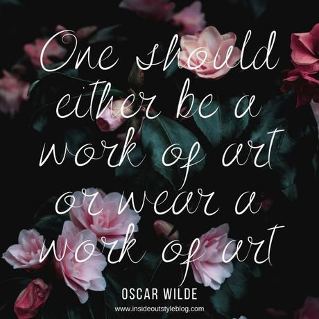 Be a Work of Art – Oscar Wilde