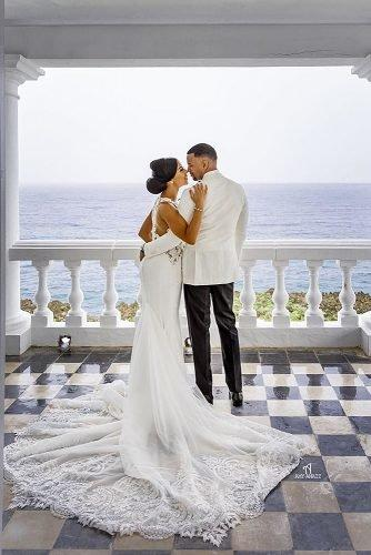 average price of destination wedding beautiful newlyweds at the balcony jamaica