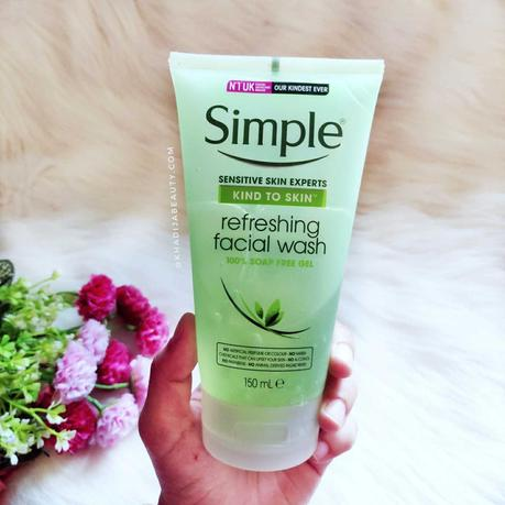 Simple Refreshing facial wash Review