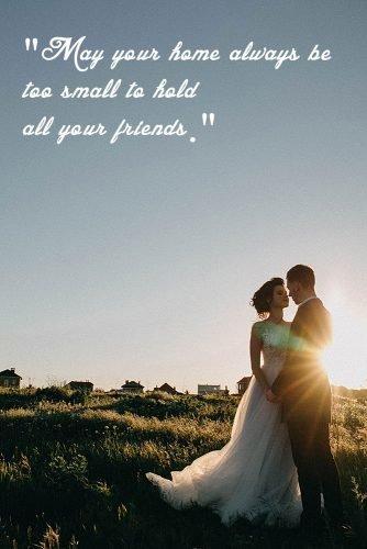 irish wedding toast newlyweds at the nature