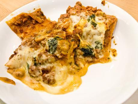 Quorn meat-free lasagne, vegetarian lasagne,