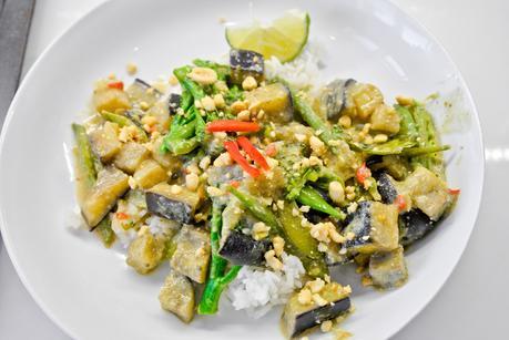 vegetarian Thai green vegetable curry