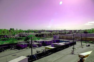 Purple sky times three [but no rain]