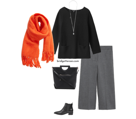 How to Wear Culottes and Wide Leg Crop Pants in the Winter