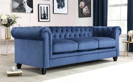purple chesterfield couch blue velvet sofa uk 3