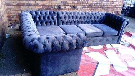 purple chesterfield couch velvet corner sofa uk grey