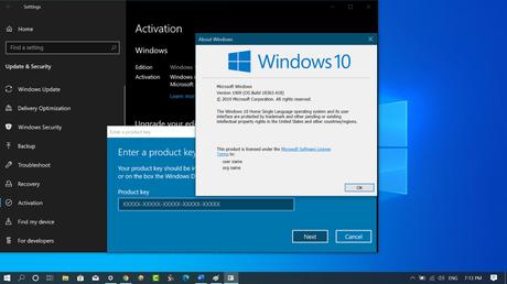 Generic product keys for installing Windows 10 Version 1909