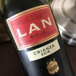 LAN Crianza 2016 Rioja wine.