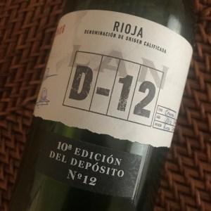 LAN D-12 Rioja wine.