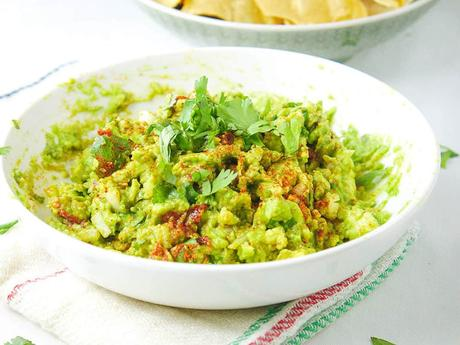 Healthy Guacamole Recipe with Chipotle Peppers