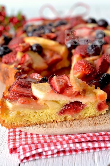 Fruit Pastry Cake - baked with less sugar and still delicious! HIGHLY RECOMMENDED!!!