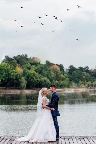 unique wedding ceremony script newlyweds near the lake