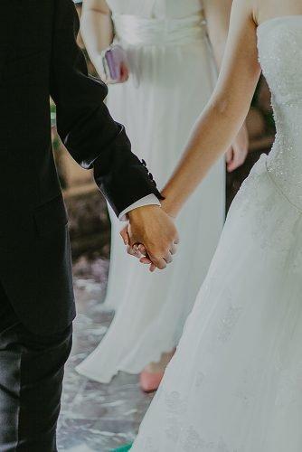 unique wedding ceremony script bride and groom walking