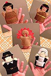 Image: Thanksgiving Felt Finger Puppet Set For Kids, Toddler Pretend Play