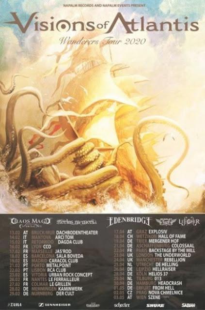 VISIONS OF ATLANTIS Announces 2020 European Headline Tour