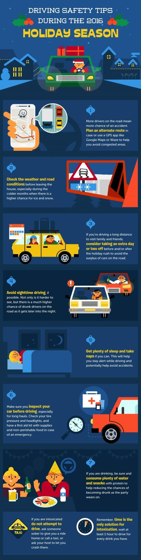 Driving Safety Tips During Holiday Season [Infographic]