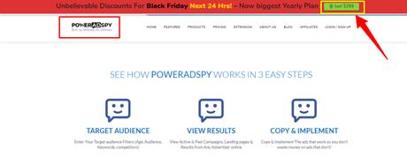 PowerAdSpy Balck Friday Cyber Monday Deal 2019 Upto 50% Off