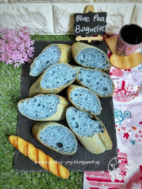Blue Pea Chia Seeds Baguette
