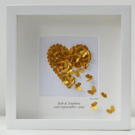 Golden 50th Wedding Anniversary