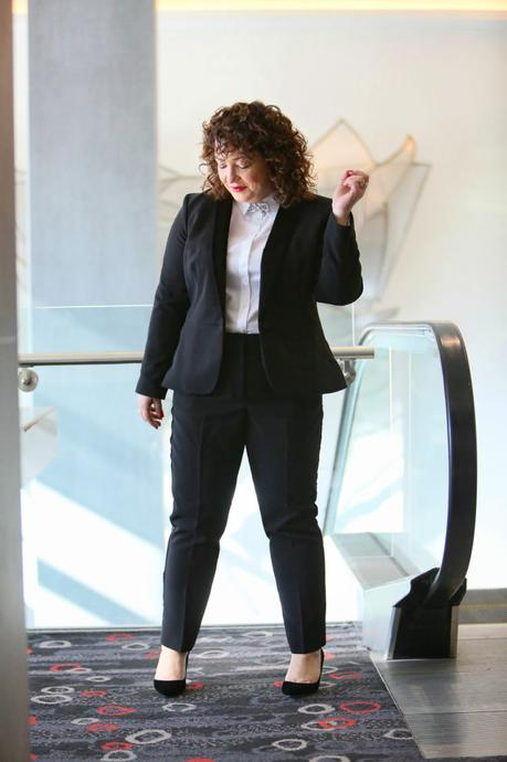 Cocktail Pantsuit: Outfit 3 from the Holiday Capsule Wardrobe