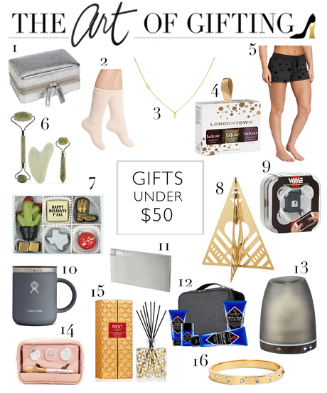 GIFT GUIDE // Holiday Gifts Under $50