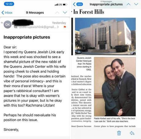 public intimacy by a rabbi
