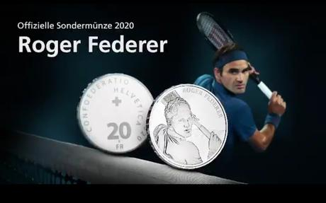 Swissmint to issue Gold & Silver commemorative 20 franc  coins featuring Roger Federer